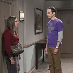 Sheldon confronting Amy over breaking up.
