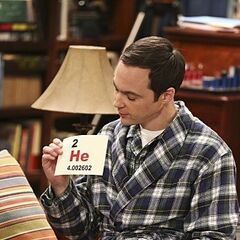Sheldon teaching Penny science facts.