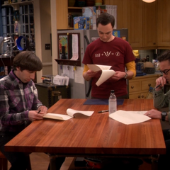 Going over Sheldon's contract.