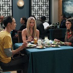 Penny along for Amy and Sheldon's first date.