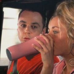Sheldon and Penny.