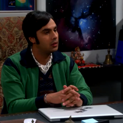 Raj in his office.