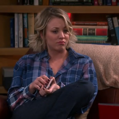 Penny listening to Sheldon's lyric speaking indignantly.