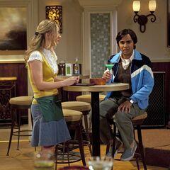 Raj mooning over Bernadette.