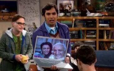 Raj's parents on Skype