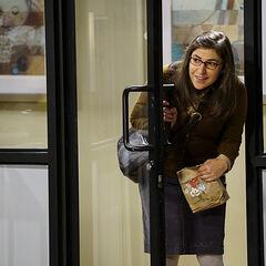 Amy brings upset Bernadette a Happy Meal.