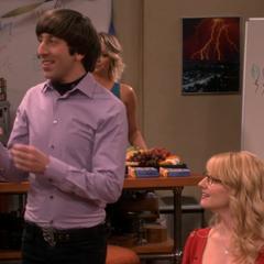 Howard toasting Sheldon.