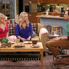 Sheldon and his ladies.