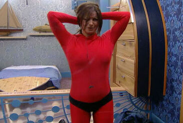 Sheila Red Unitard