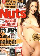 Sara Folino in nuts magazine cover
