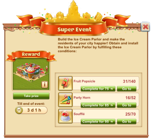 IceCreamParlor Event