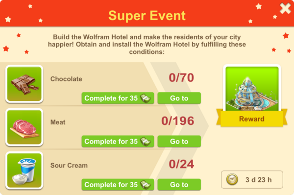 2017 February Wolfram Hotel Super Event Requirements
