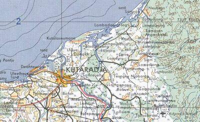 Kutaradja map