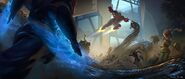 Big Hero 6 Demon Yokai Battle concept art