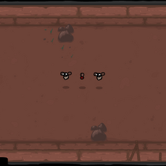 Three Attack Flies and two Pooters with a rock on each wall of the room.