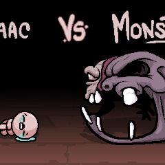 Scenka Isaac Vs. Monstro II na PSVicie.
