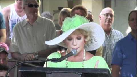 video   ruta lee at lindsay wagners star on the ps walk of