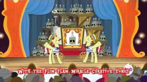 MLP Flim Flam Miracle Tonic Literal Version! *Lyrics on screen*