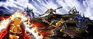 Art Tahu Donning Golden Armor