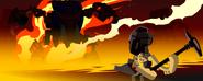 Animation Tahnok threaten Hafu
