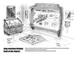 Hall Of The Future Slug Anatomy Display Concept