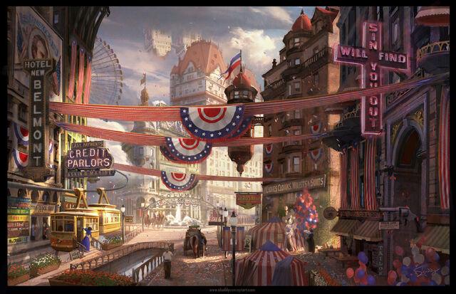 File:BioShock Infinite Columbia Town Square Concept.jpg