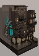 Art Nouveau Columbia Tarot Building Concept