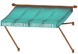 Harper's Grocery awning