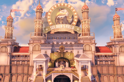 BioShock Infinite - Battleship Bay - Soldier's Field Welcome Center entrance f0807