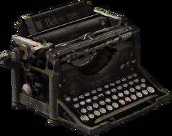 Below Tree Typewriter Model Render