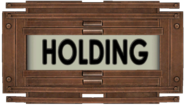 Holding Wing Sign