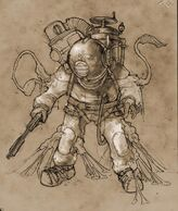 Early Big Daddy Parasite Concept Art