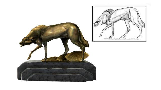 File:Wolf Sculpture Concept.jpg