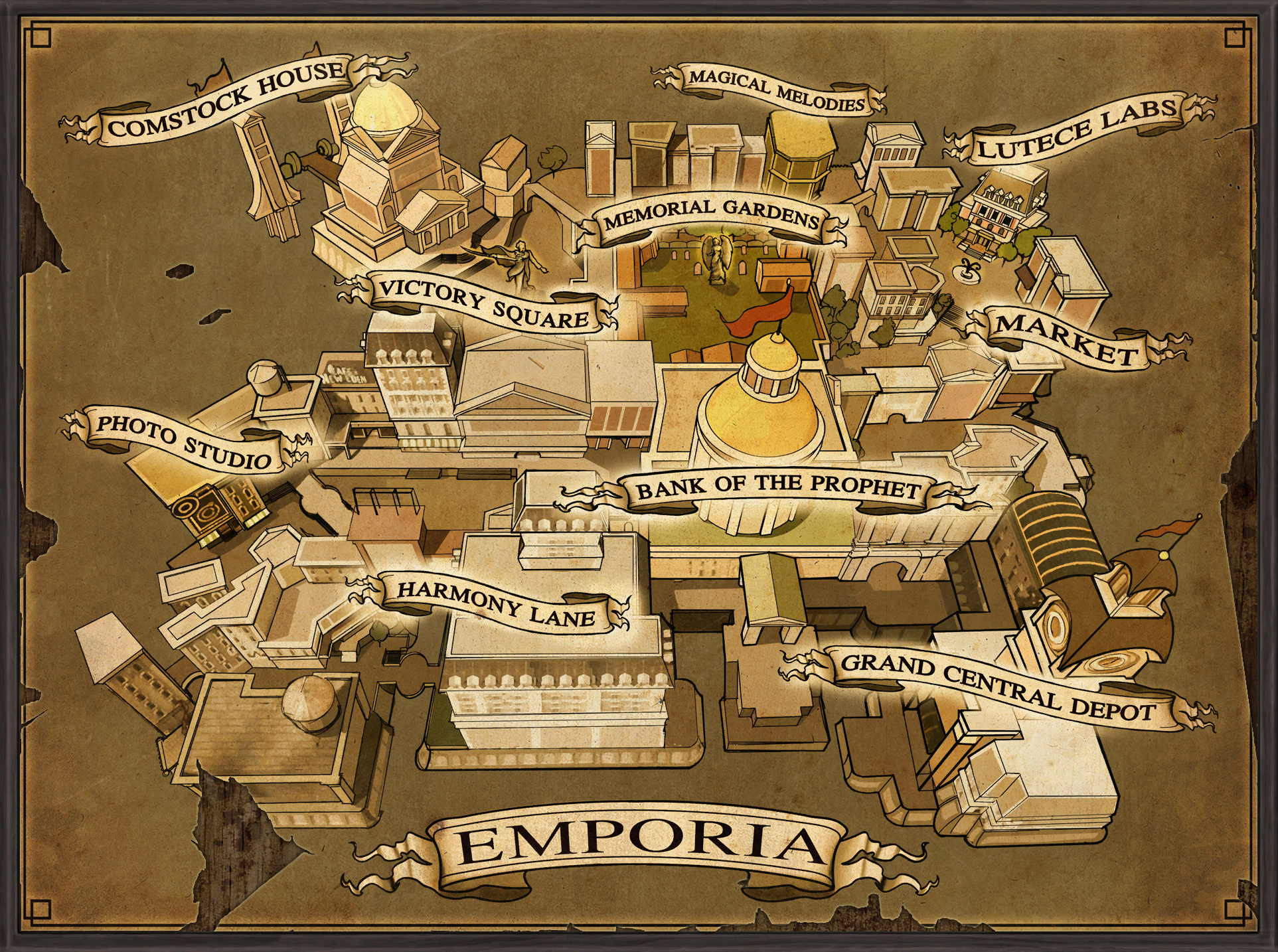 Image - Emporia Map.png | BioShock Wiki | FANDOM powered ... | 1925 x 1434 png 3218kB