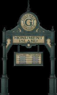 Monument Island Gondola marquee