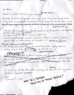 Lynch letter