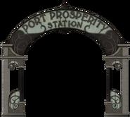Port Prosperity Station sign