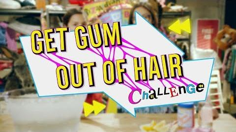 BizHaircut Get Gum Out Of Hair Challenge Disney Channel