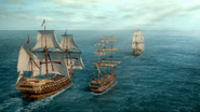 Spaniards & pirates