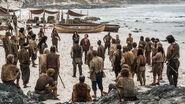 Crew on the beach