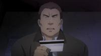 Tadashima looks at Rentaro's card