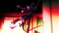Kage kicks Rentaro