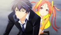 Enju and Rentaro head to school