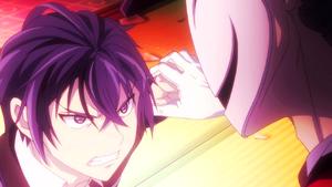 Kage stops Rentaro's punch