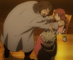 Asta saves Rebecca from a drunk