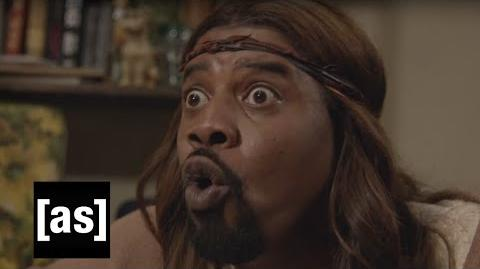 The Second Coming Is Here Black Jesus Adult Swim