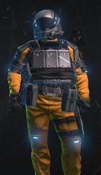 Metallic Orange Armor