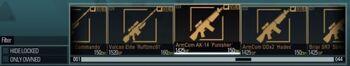 Premade weapon bar