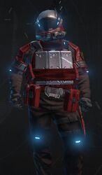 Hardsuit Pilot Red Armor