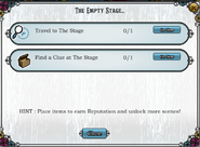 Quest The Empty Stage-Tasks